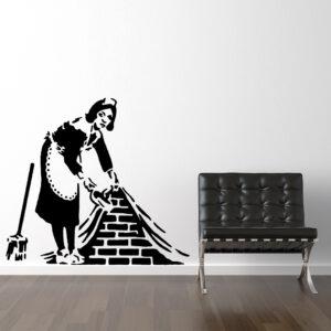 Rengøringsdame Af Banksy Wallsticker