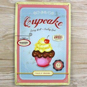 Cupcake Emaljeskilt