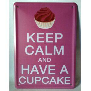 Retro Cupcake Emaljeskilt