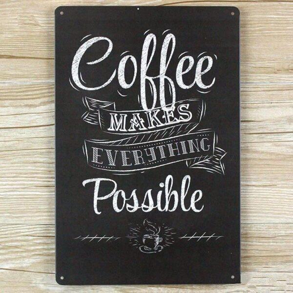 Kaffe Emaljeskilt