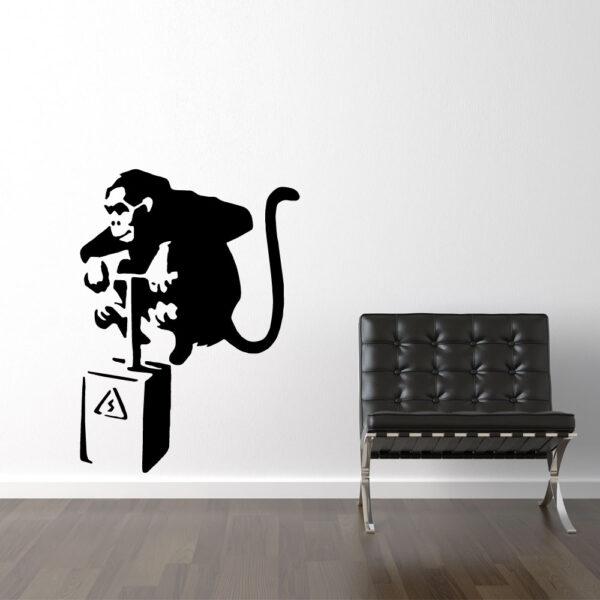 Banksy Abe Med Detonator Sort Wallsticker Fra Banksy