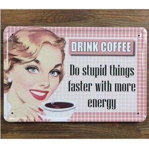 Retro emaljeskilt kaffe