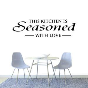 Køkken-tekst Wallsticker
