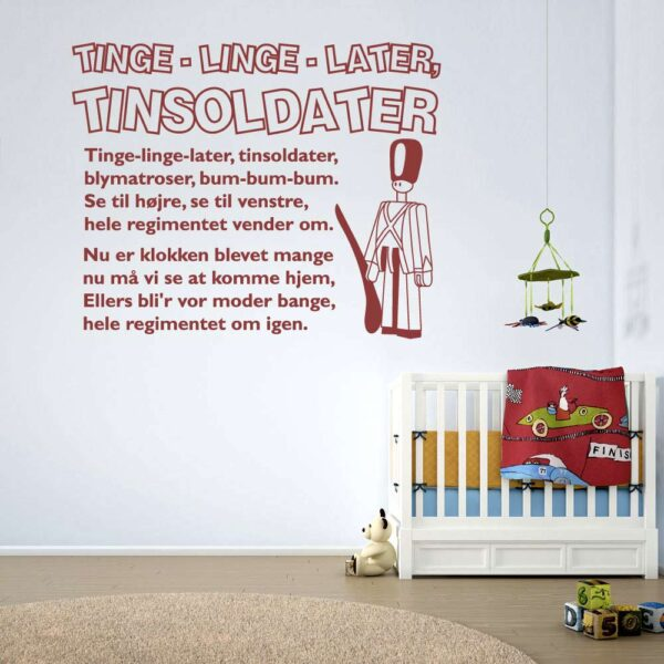 Tinge Linge Later Wallsticker Med Tekst
