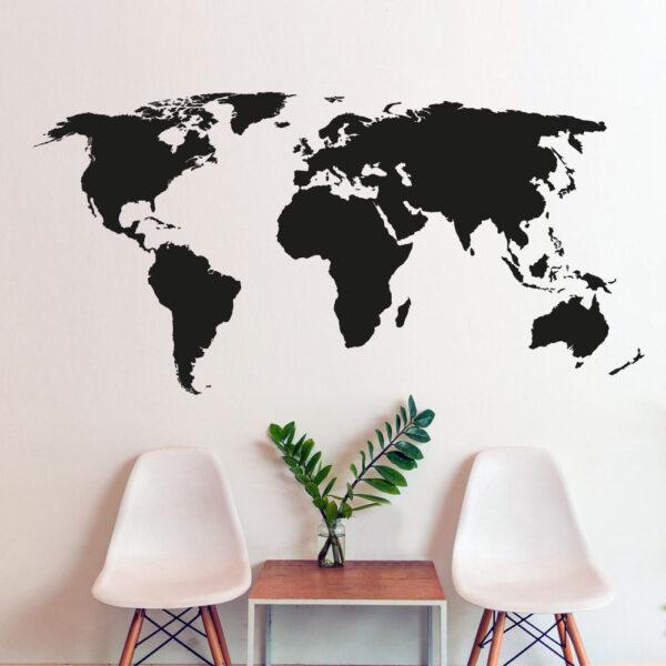 Almindeligt Verdenskort Wallsticker