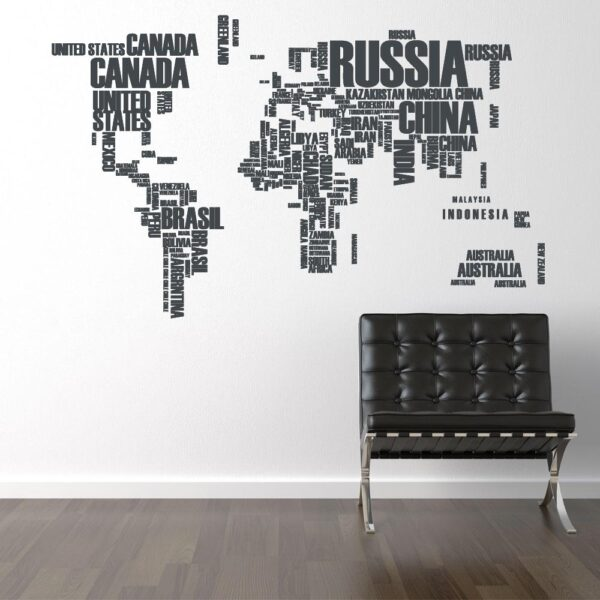 Verdenskort med landenavne