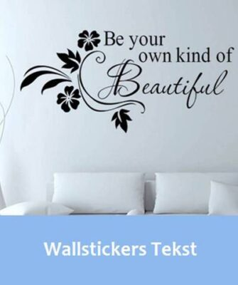 Wallstickers med tekst