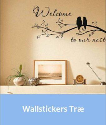 Wallstickers med træ motiv