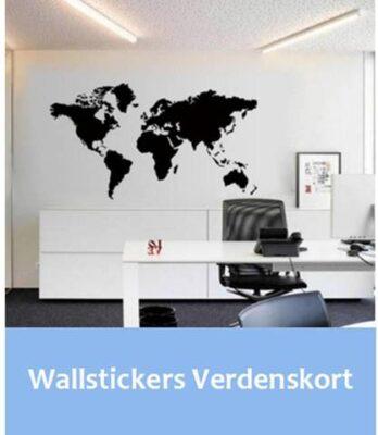 Verdenskort wallstickers