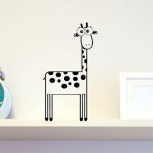 Fjollet Giraf Wallsticker Fra Dimaria