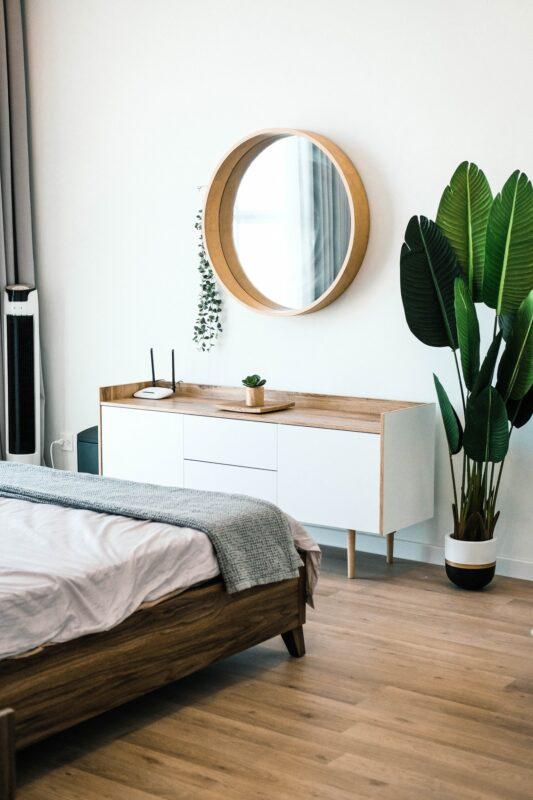 Soveværelse med seng